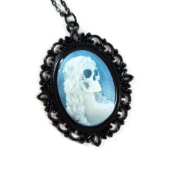 Death Becomes Her Cameo Necklaces by Wilde Designs