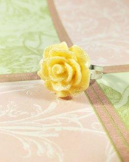 Glittery Kawaii Rose Ring by Wilde Designs