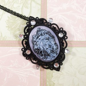 Bejeweled Three Graces Cameo Necklace by Wilde Designs