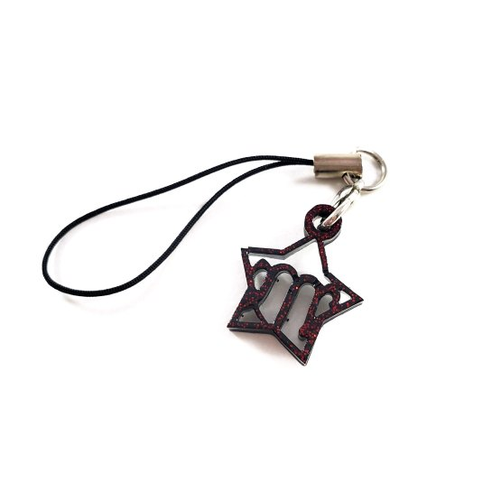 Black and Red Virgo Charm by Wilde Designs