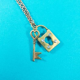 Lock and Key Necklace by Wilde Designs