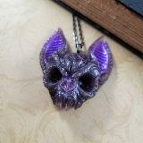 Flying Death Bat Skull Necklace by Wilde Designs