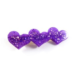 Sparkling Hearts Hair Clips by Wilde Designs