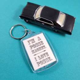 Posse Magnet Double Sided Keychain by Wilde Designs