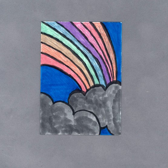 Metallic Rainbow Art Card by Wilde Designs