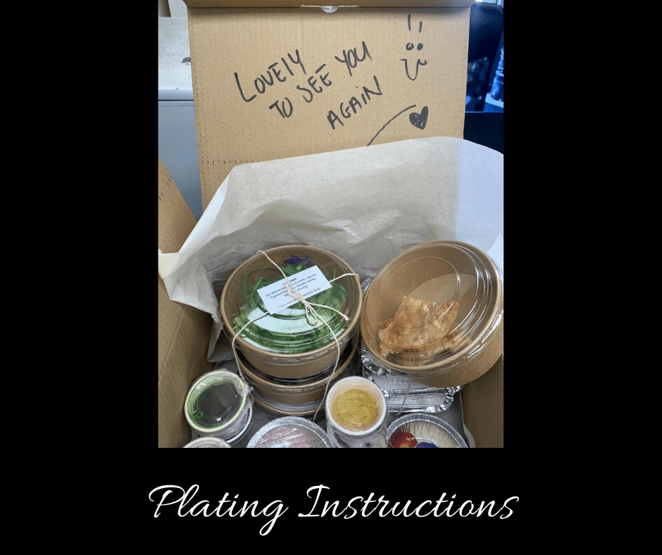 Sunday Lunch Plating instructions