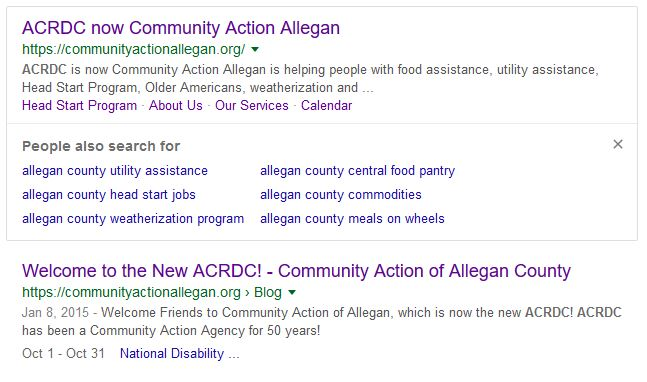 google page 1, Community Action Agency