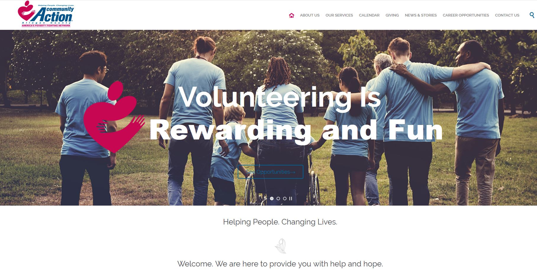 online-marketing-non-profit community action agency website design by wilder marketing
