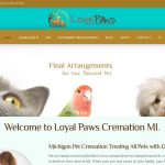loyal paws cremation web design by Wilder Marketing