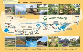 Feeling for a special bike tour - take a ride on the Wolfsradweg!