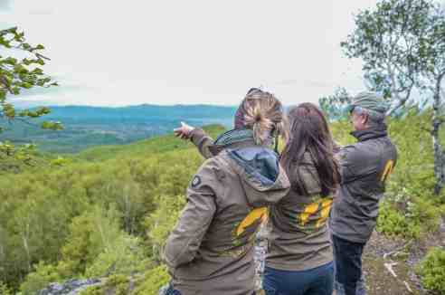 The team assesses wilderness area