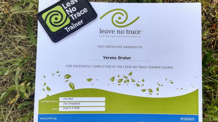 Leave no Trace trainer trraining © All rights reserved