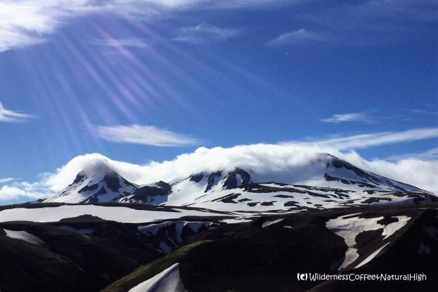 Fjallalæða, the mountain equivalent of a dalalæða, Mount Loðmundur and Snækollur