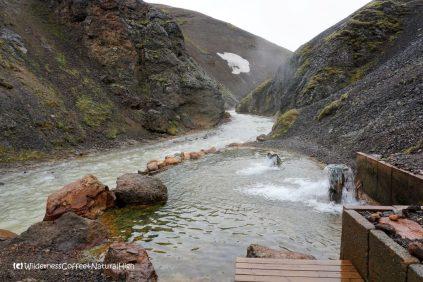 Ásgarðsá river and hot pool, Kerlingarfjöll, Kjölur road, Iceland