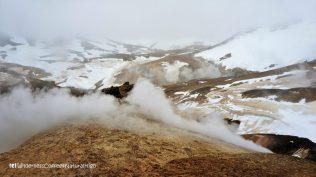 Steaming fumarole, Hveradalir geothermal valley, Kerlingarfjöll, Kjölur road, Iceland
