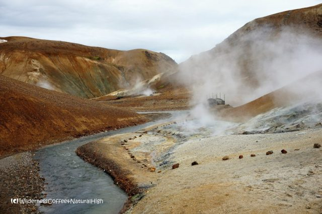 Steaming river, Hveradalir geothermal valley, Kerlingarfjöll, Kjölur road, Iceland