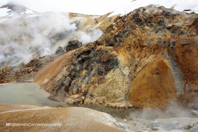 The steaming valley of Hveradalir, Kerlingarfjöll, Iceland