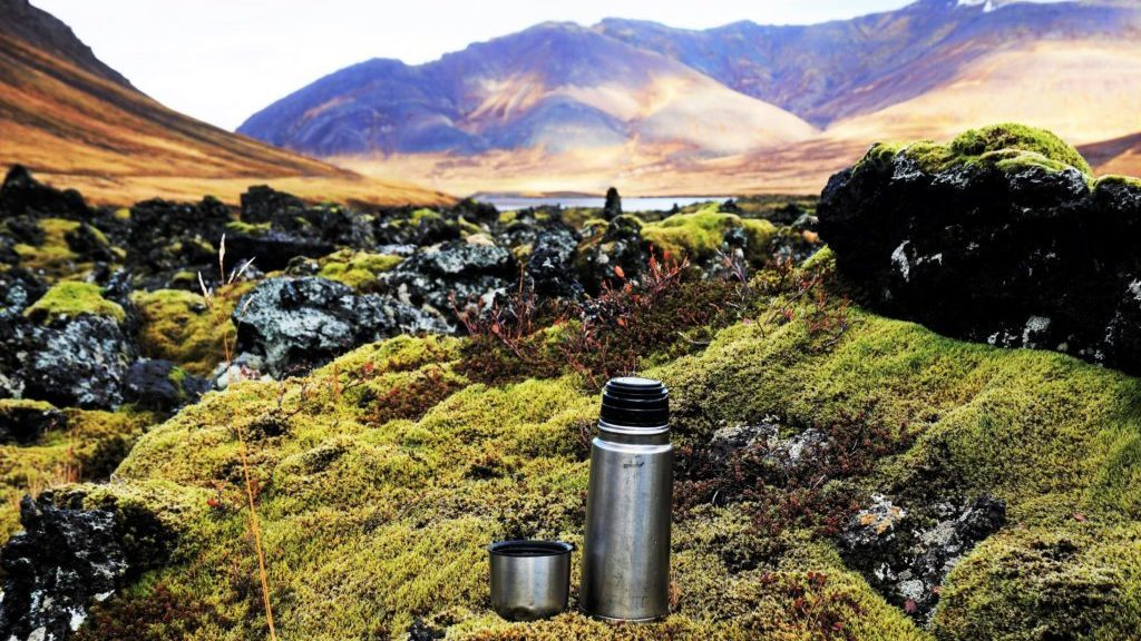 Wilderness Coffee in the lava field