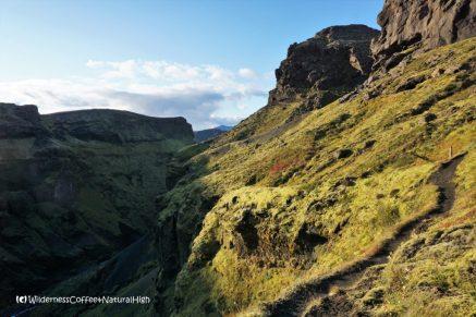 Hvannárgil canyon, upper path, Þórsmörk, Iceland.