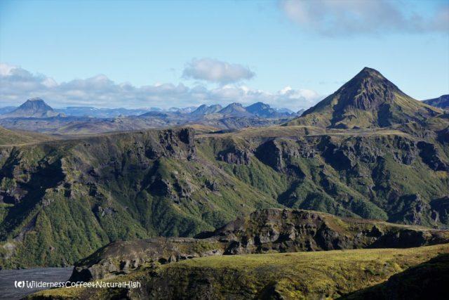 Mount Rjúpnafell, hiking trail, Þórsmörk, Iceland