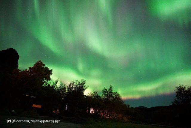 Northern lights, Þórsmörk, Iceland