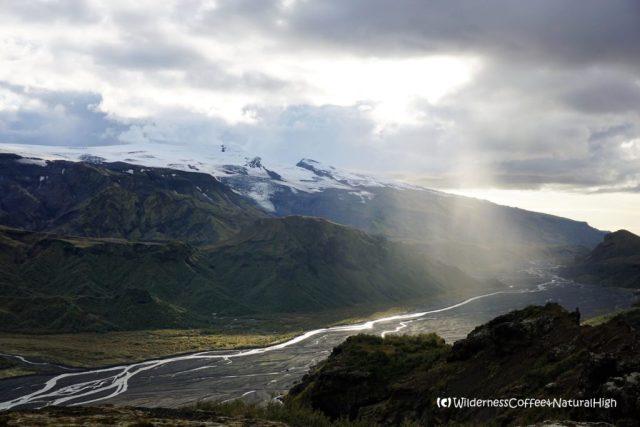 Rain shower over the valley, Þórsmörk, Iceland