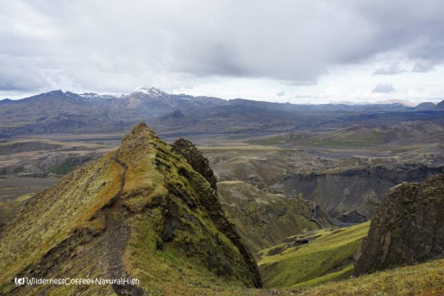 Upper path and ridge, Rjúpnafell, hiking trail, Þórsmörk, Iceland