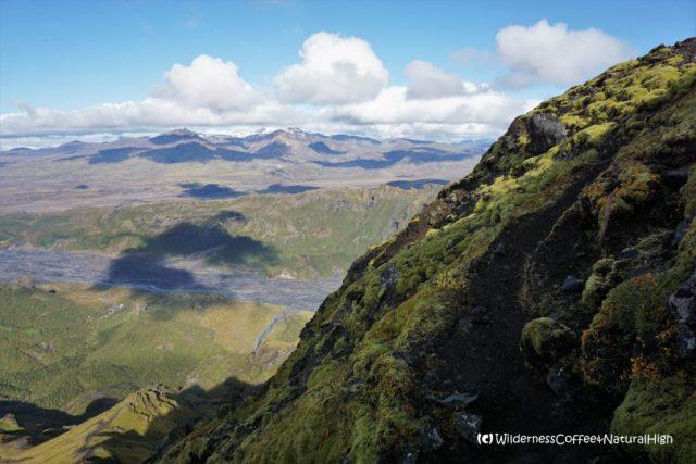 Útigönguhöfði upper path, hiking trail, Þórsmörk, Iceland