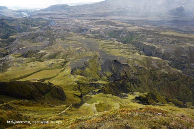 View from the top of Rjúpnafell, Þórsmörk, Iceland