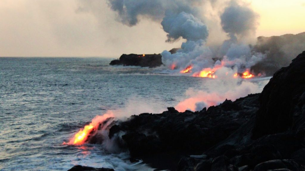 Kalapana coastal lava flows, Kilauea, Big Island, Hawaii