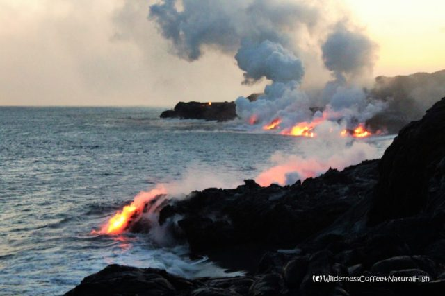 Kalapana coastal lava flows, epic wilderness nature, Big Island, Hawaii