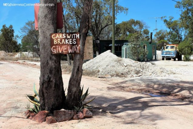 Funny road sign, The Grawin, New South Wales, Australia