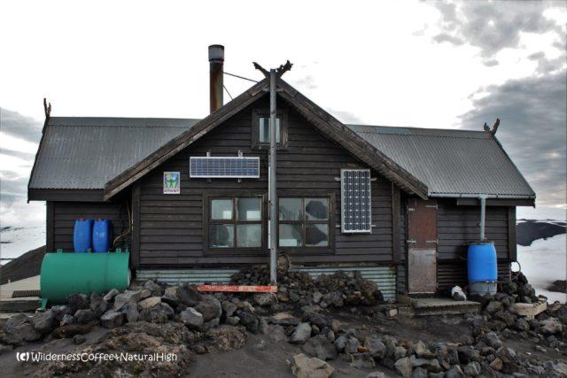 Fimmvörðuháls hut, Eyjafjallajökull glacier, Iceland