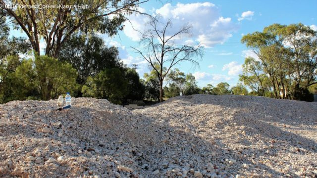 Fossicking heap, Lightning Ridge, New South Wales, Australia