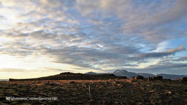 Top of Útigönguhöfði mountain, Fimmvörðuháls walking route, Þórsmörk, Iceland