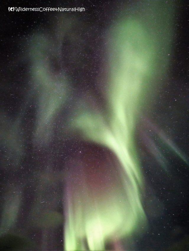 Heart-shaped northern lights, Stykkishólmur, Snaefellsnes, Iceland
