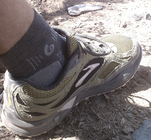Point 6 Socks on the trail