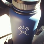 my 40 ounce Hydroflask bottle in blue