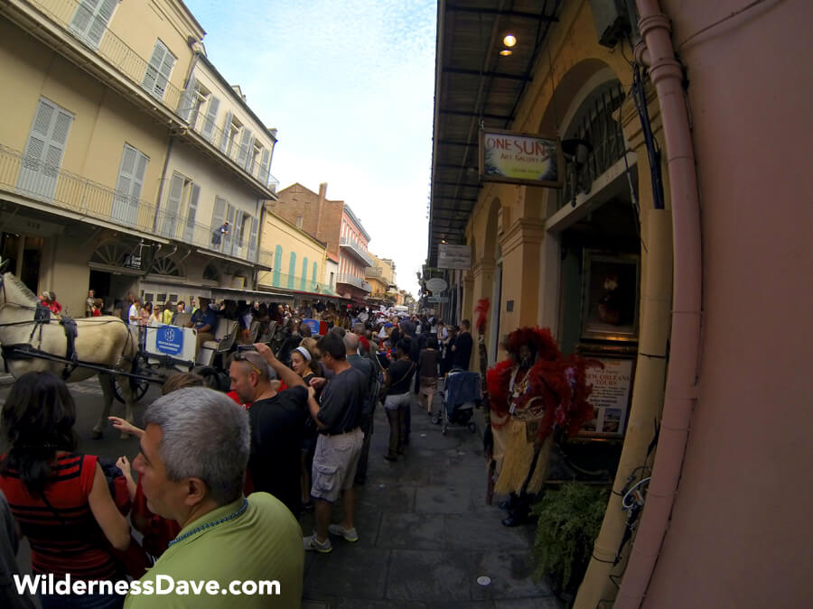 Action in the French Quarter - New Orleans