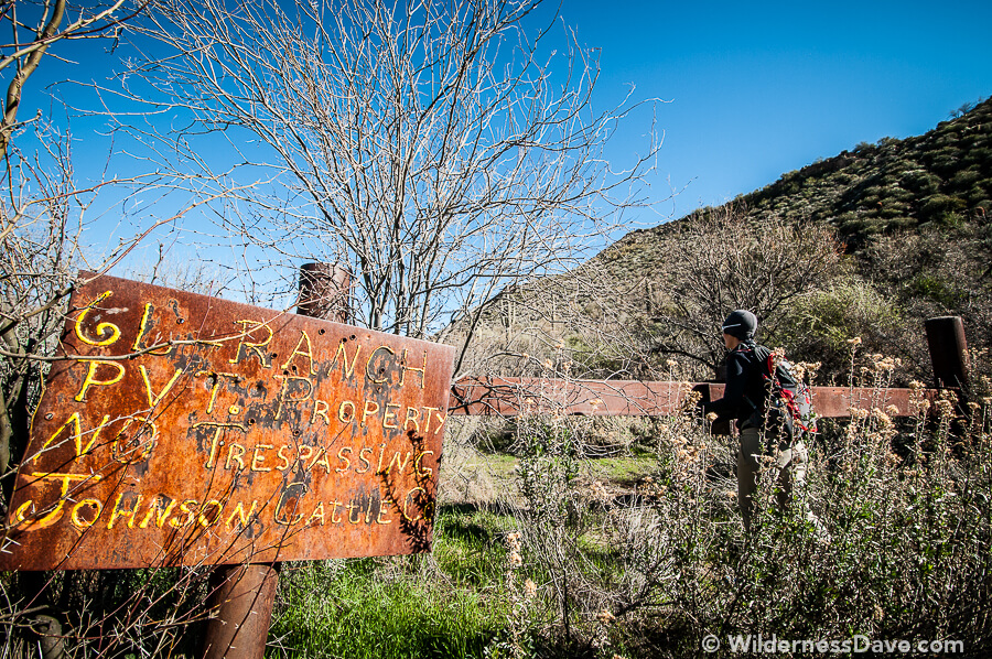 Leaving Spur Cross onto an abandoned private ranch to look for the Petroglyphs