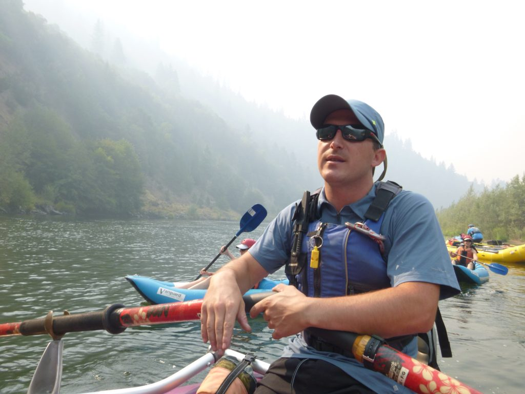 Aaron DeSilva on the Rogue River