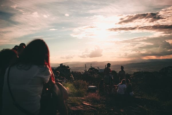 people-gathering-during-sunset