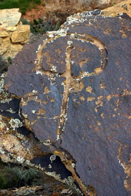 """Example of one of the mysterious petroglyphs referred to by some as """"water glyphs."""""""