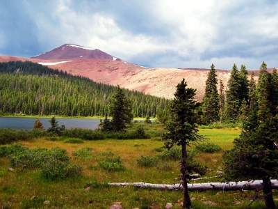 Many unnamed lakes adorn the green basins of the High Uintas Wilderness Area
