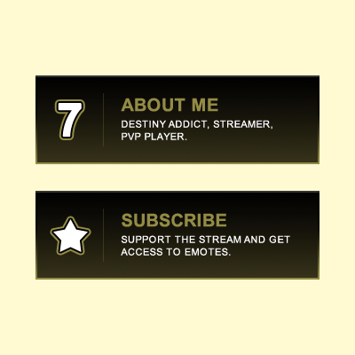 SweatTheSeven Gold Twitch Panels