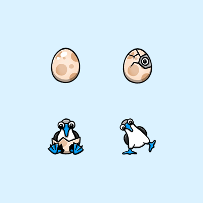Bewbie's Blue Footed Booby Twitch Subscriber Badges
