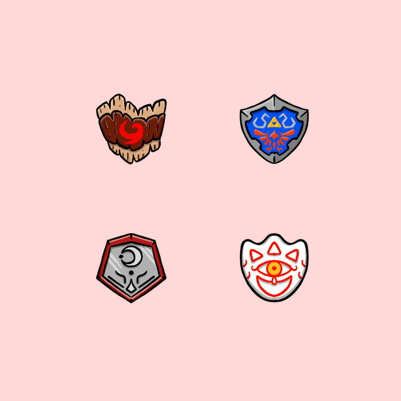 Nubtron's Zelda themed Twitch subscriber badges