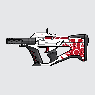 Destiny 2 The Recluse sub machine gun illustration by WildeThang