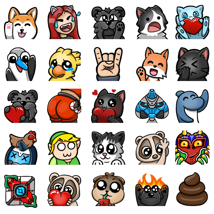 Custom Twitch Emotes designed by WildeThang