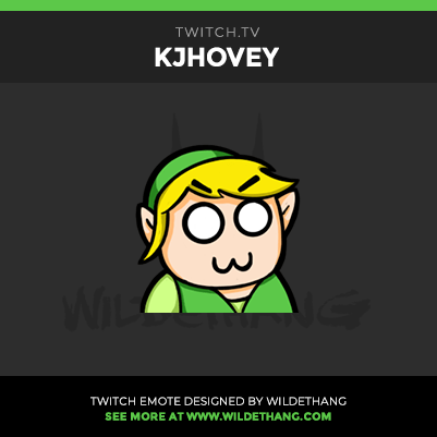 KJHovey's Zelda Twitch Emote designed by WildeThang